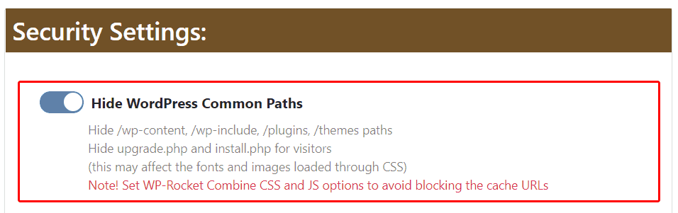 Hide WordPress common paths