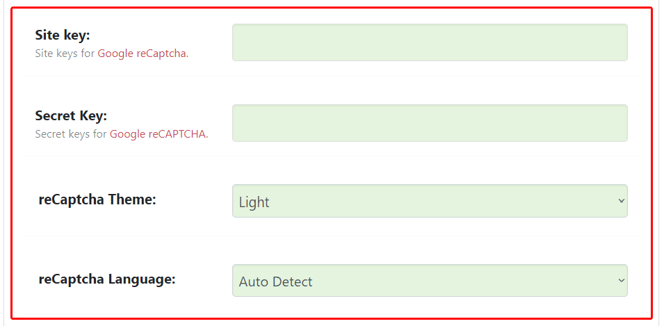 hide my wp recaptcha settings
